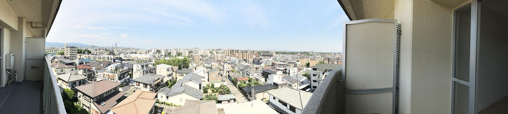 360度開放的 バルコニーからの眺望